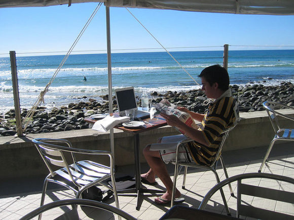 Working by the Ocean