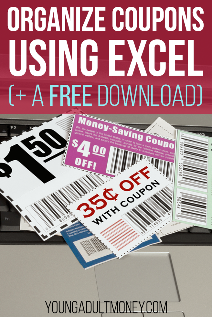 Do you love to clip coupons to save money? Overwhelmed by how to manage them? Get this coupon organizer spreadsheet as a free download in Excel!