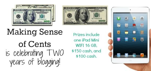 Making Sense of Cents Giveaway