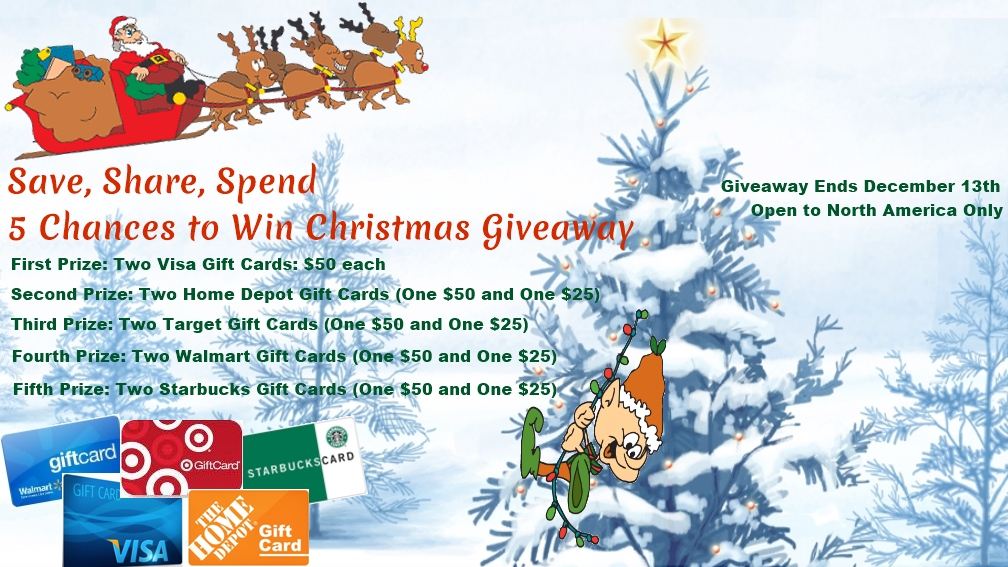 $400 Christmas Gift Card Giveaway - 5 Chances to Win! | Young Adult ...