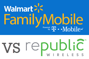 Walmart Family Mobile or Republic Wireless