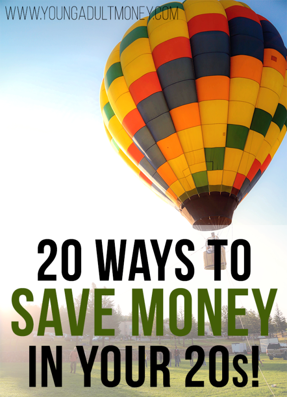 Want to save money in your 20s? It can be difficult when you don't get paid a ton and want to have an active social life, but these 20 ways to save will help!