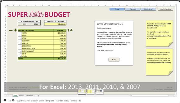 5 reasons to love savvy spreadsheets super starter budget young