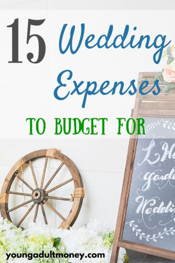 15 Wedding Expenses