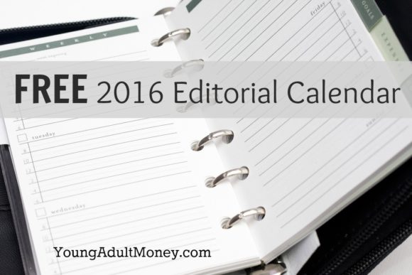 FREE 2016 Editorial Calendar for Download