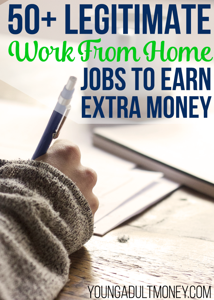 Legitimate Ways To Make Extra Money At Home Young Adult Money