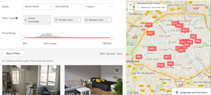 Some AirBnB Options in Paris