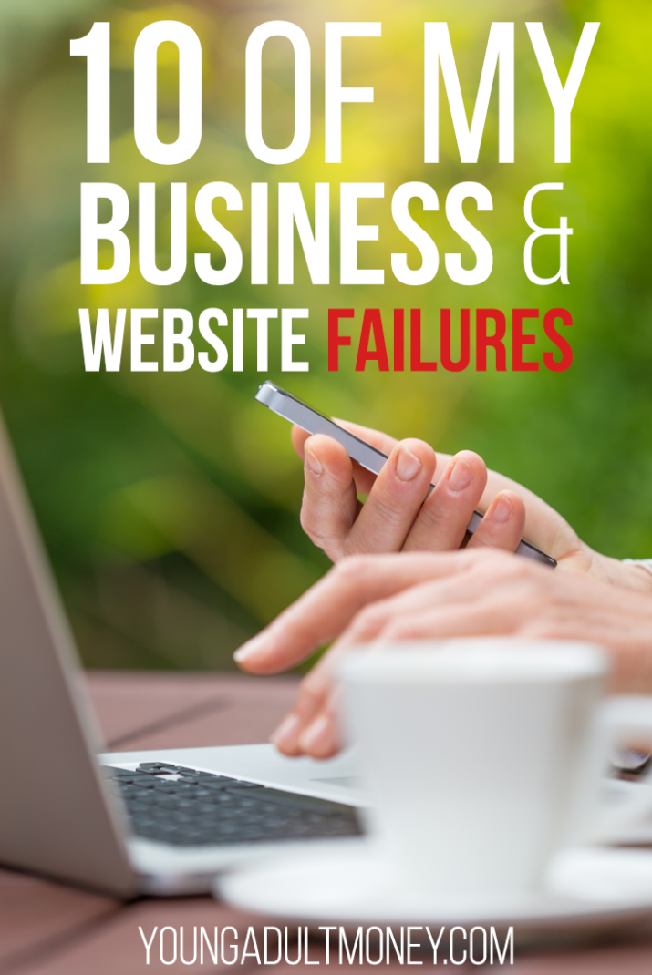 Before I found success with a website idea I failed - and I failed often. This post highlights 10 of my business and website failures and what I learned.