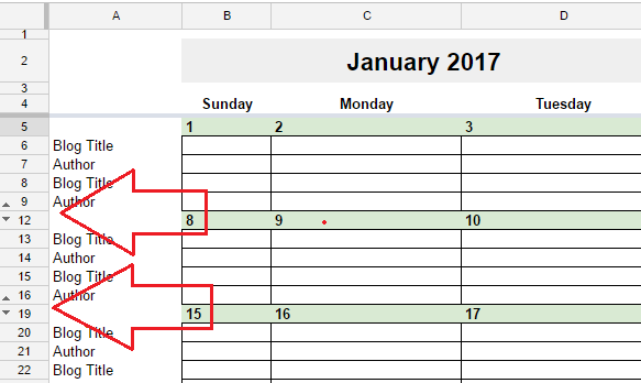 Google Sheets Weekly Calendar : Free editorial calendar in google spreadsheets