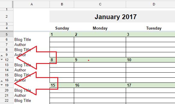Calendar Google Sheets : Free editorial calendar in google spreadsheets