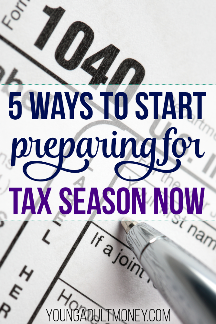 Tax season doesn't have to be a pain. You can start preparing for tax season early by doing these 5 things.