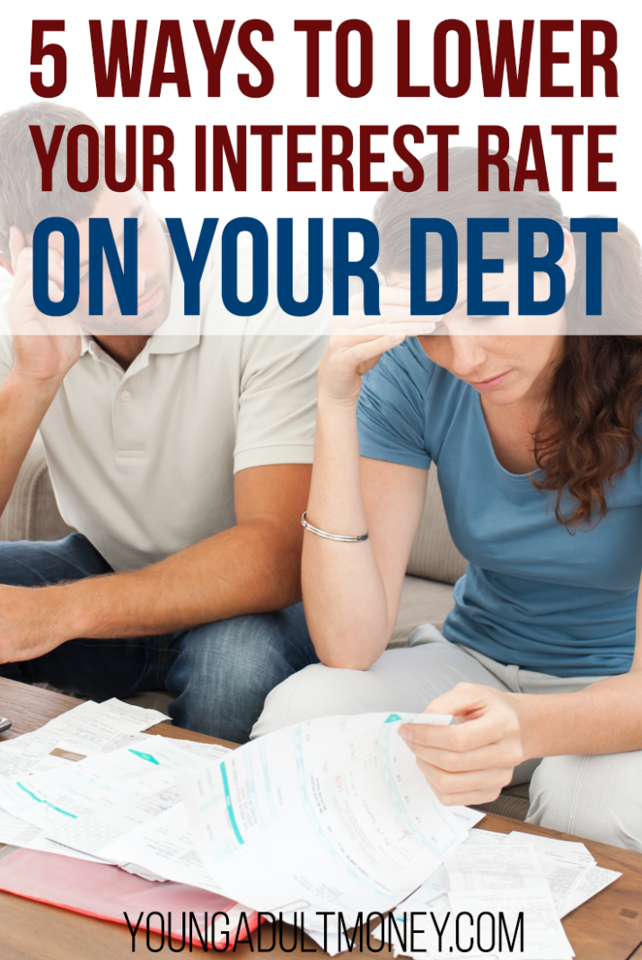 Feel stuck in your debt? The good news is that you can lower your interest rate to get your debt paid off faster. Here are 6 ways to lower your interest rate.
