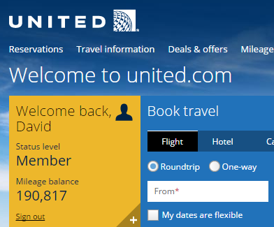 United Airlines Points