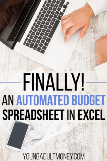 Finally there is an automated budget spreadsheet in Excel. This spreadsheet automates the most manual aspects of budgeting.