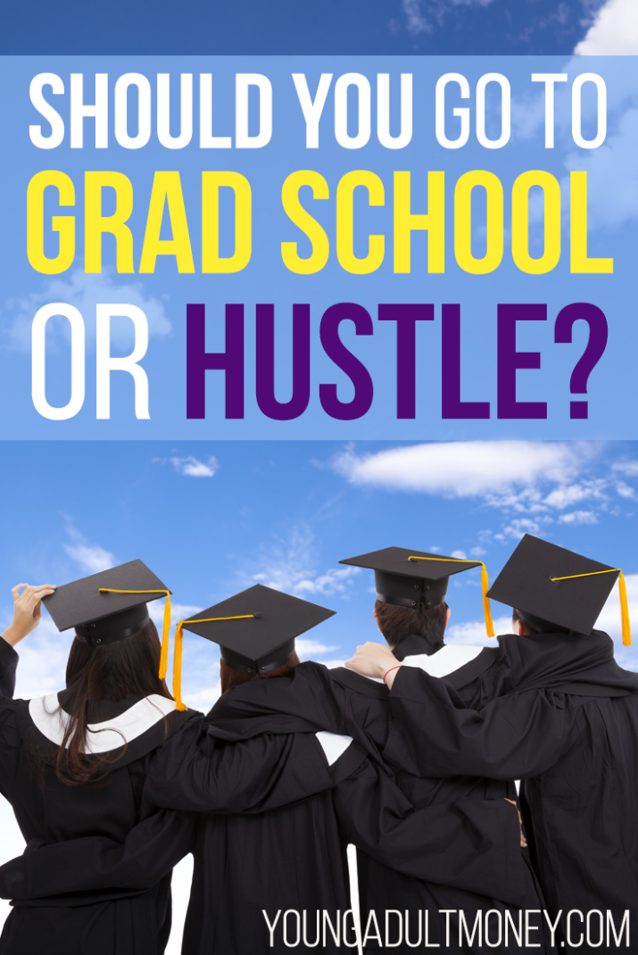 Do you struggle with deciding whether to go to grad school or work on a side hustle or business? We discuss the pros and cons of each in this post.
