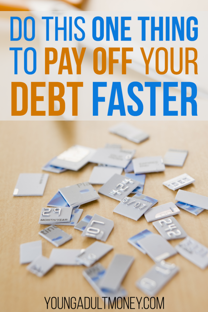 Do you want to pay off your debt faster? Consider making one simple change to pay off your debt faster. Read on to find out what the one thing is!