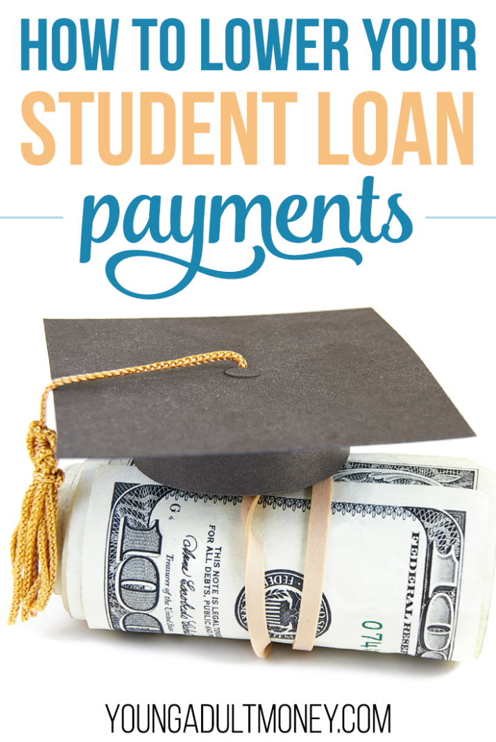 Are your student loan payments too much for you to handle right now? Here are a few options to help lower your student loan payments.