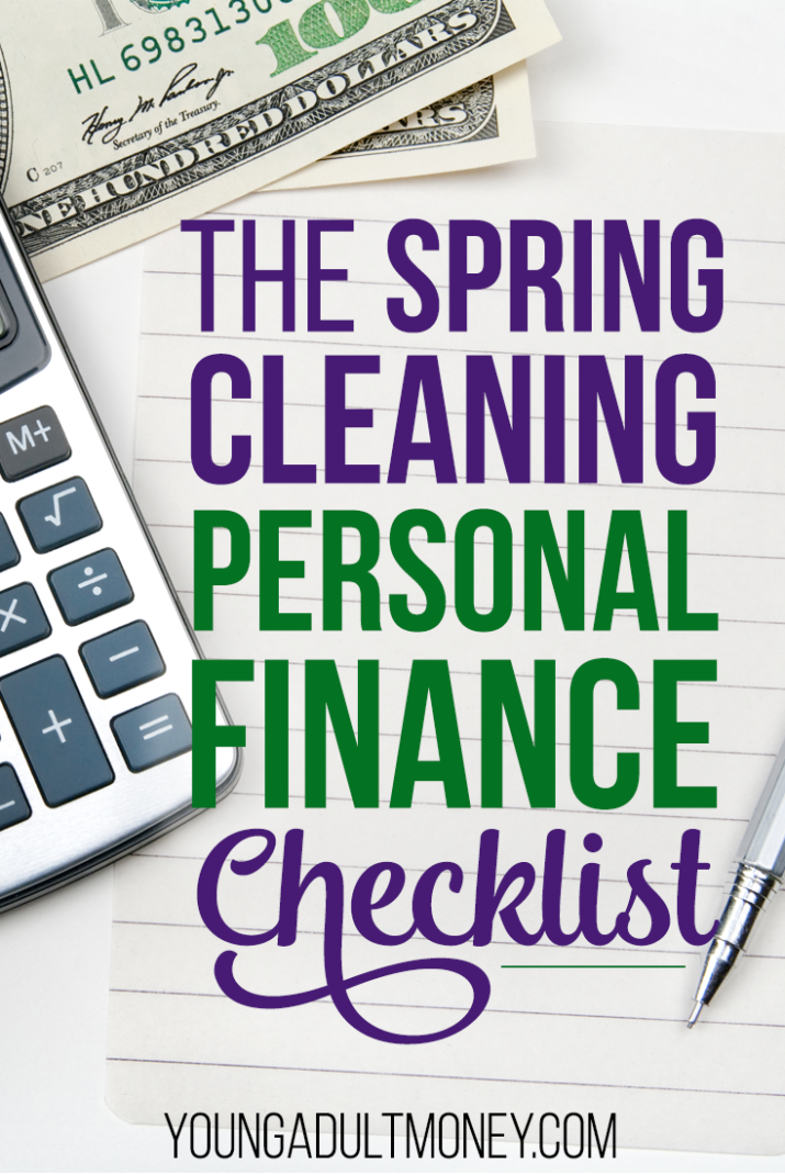 The Spring Cleaning Personal Finance Checklist Young Adult Money