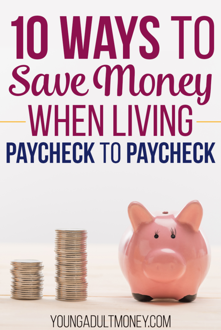 Learn how you can save money and break the paycheck to paycheck lifestyle.