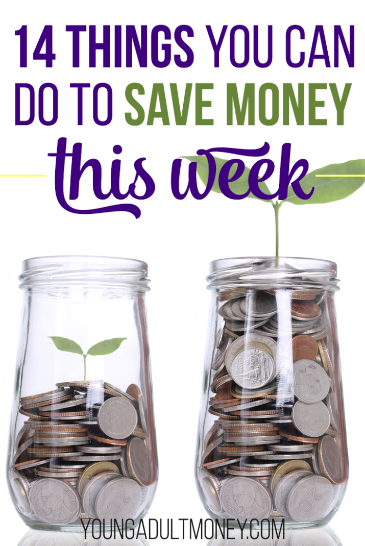 Do you find yourself wondering where your money actually goes? Money can seem so easy to spend, but with some adjustments, it can be just as easy to save. Here's how you can save money this week.