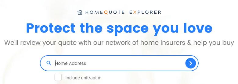 HomeQuote Explorer Enter Address