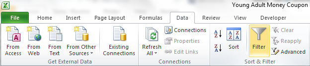 How To Organize Coupons Using A Database In Excel With Download Young Adult Money