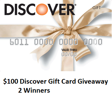 Giveaway: 8 in Discover Gift Cards  Young Adult Money
