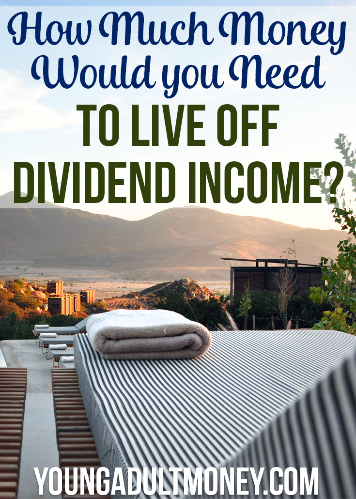how much money would you need to live off dividend income