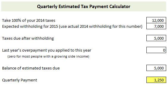 How to Calculate and Pay Quarterly Estimated Taxes | Young