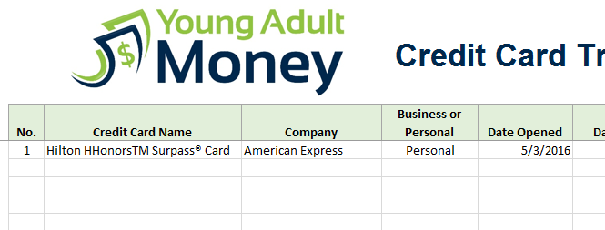 Credit Card Rewards Tracking Spreadsheet In Excel Young Adult Money