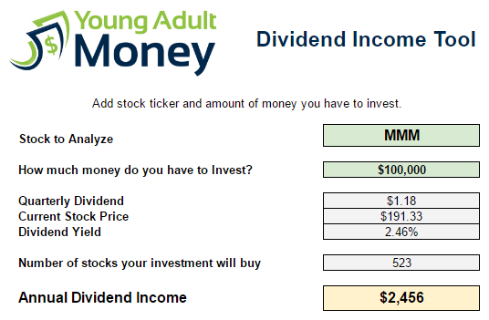 How Much Can You Make in Dividend Income? This Spreadsheet Will Show