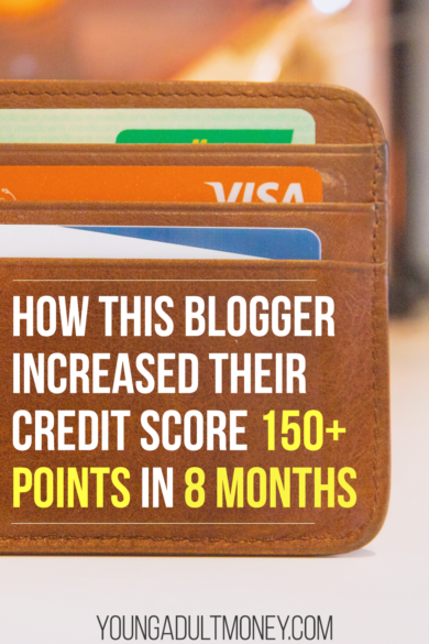 Your credit score can have a big impact on your finances. The better your score, the better interest rate you will have on debt, including opportunities to refinance your debt for a better rate. Here's a real life example of how a blogger increased their credit score 150+ points in 8 months, and practical ways you can increase your credit score too.